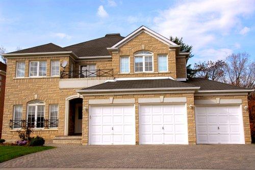 white - garage